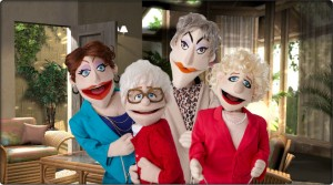 """Thank You for Being a Friend"" It's the Golden Girls with puppets!"