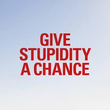 Give Stupidity A Chance BLOG