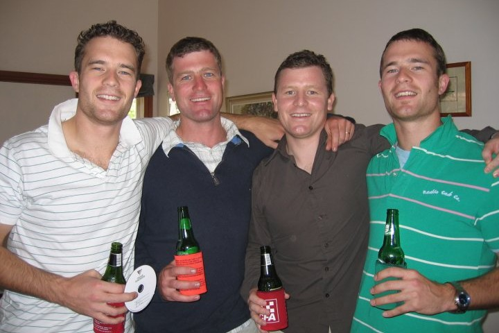 Lachlan, his brothers and twin Charles. Image credit: Lachlan Beaton