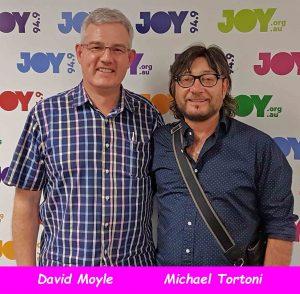 David Moyle and Michael Tortoni at JOY 94.9