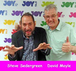 Steve Sedergreen and David Moyle at the Bent Notes studio at JOY 94.9