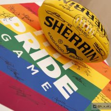 AFL Pride Game – Associate Professor Caroline Symons & Ryan Storr