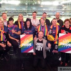 AFL Pride Game – Brock McLean and Angie Greene stand up to hompohobia