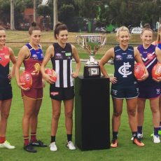 AFLW Captains and the Premiership Cup