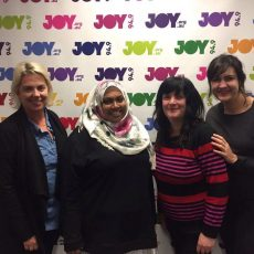 (left to right) Motty, Rana Hussain, Fi & Rachael.