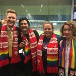 2017 AFL Pride Game – Jason Ball and Cr Jess Miller.