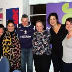 Fi, Megan Hustwaite, Danae, Bec, Rachael, Katie Lio. Photo: Betty Sujecki.
