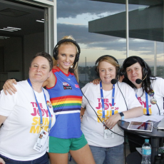 2018 AFLW Pride Game – Annie Nolan and James Lolicato CEO Proud2Play