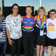 2018 AFLW Pride Game -Jerril Rechter, CEO of Vic Health and WB Board Member