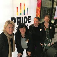 Saints Pride Game Launch, ulcer awareness and Cecile Said from the Crows