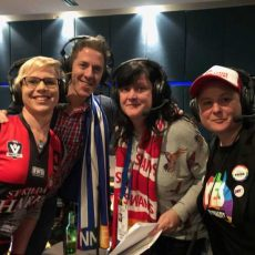 2018 AFL Pride Game – Emily Rowe and Pat Miller from Blue Roos