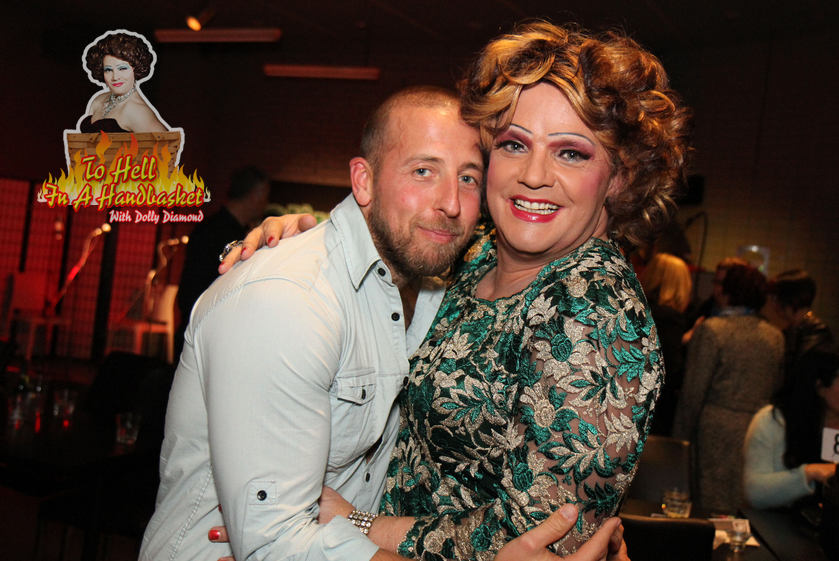 Gay rights advocate and education activist Daniel Witthaus with Dolly Diamond