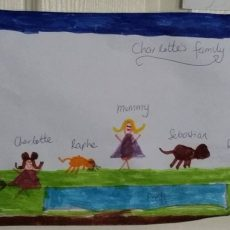 Charlotte's picture of her family