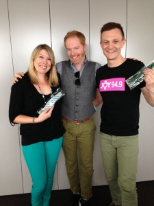 SJ & Chris with Modern Family star Jesse Tyler Ferguson