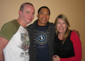Johno and SJ with actor Jason Scott Lee
