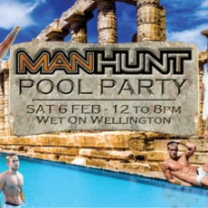 Manhunt Pool Party: Gettin' Wet