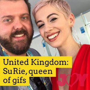 United Kingdom: SuRie, queen of gifs