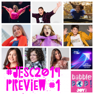 #ShareTheJOY: Previewing Junior Eurovision 2019 (Part 1)