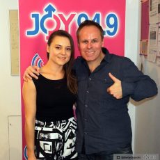 Jess and Leo in the JOY studios.