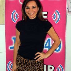 Susie McLean from The Real Housewives Of Melbourne in the JOY studio.