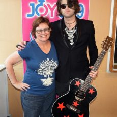 Dean Ray with Katie in the JOY studios
