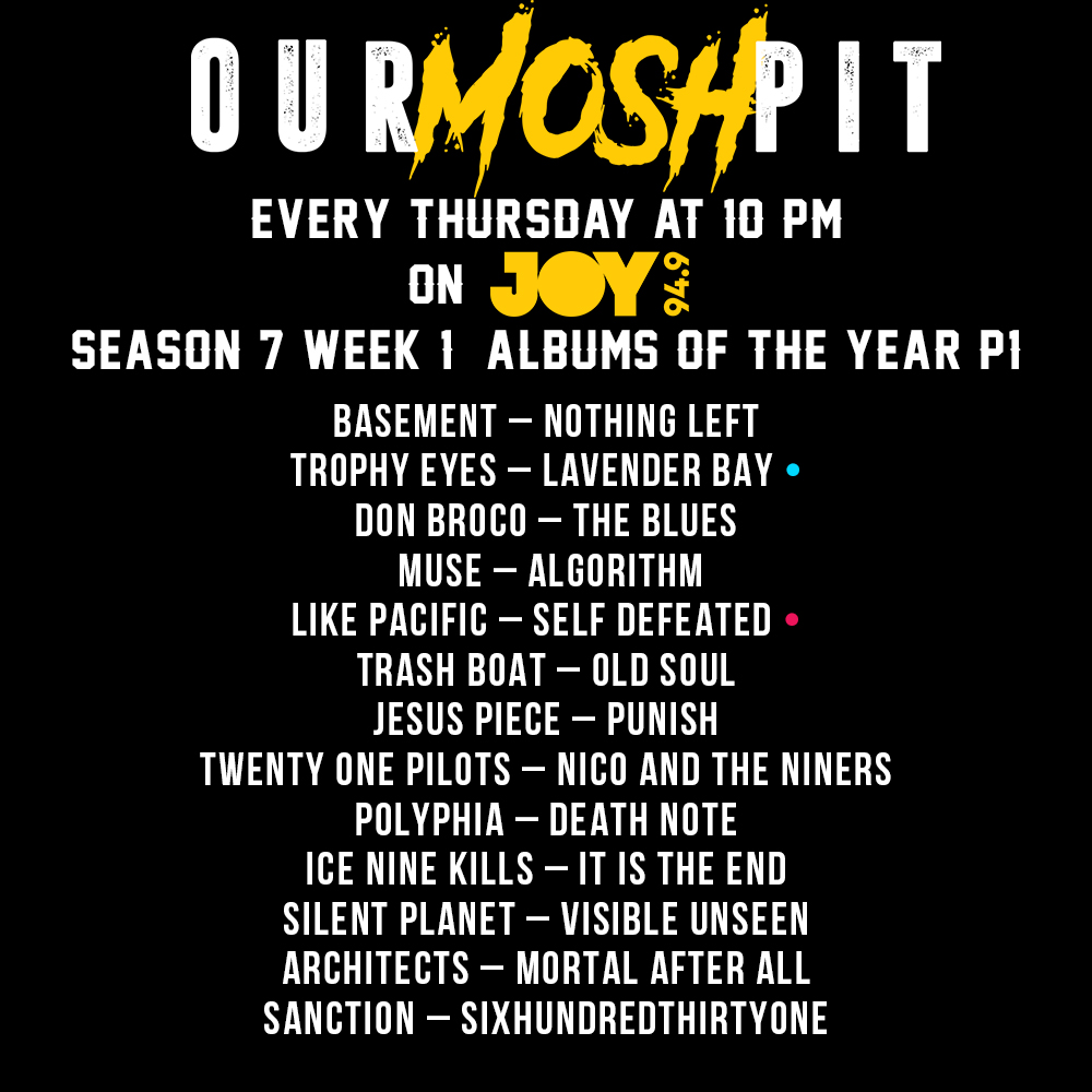 Our Mosh Pit – Season 7 Week 2 Podcast (My Favourite Albums of the 2018, Part 2)