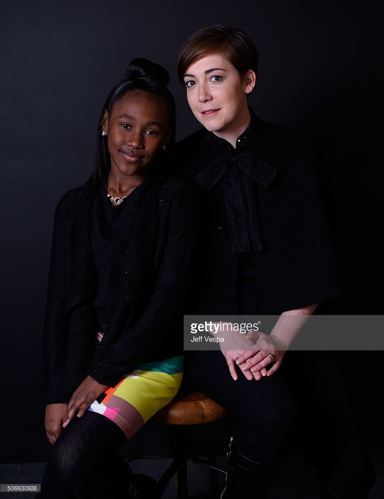 "from the film ""The Fits"" poses for a portrait during the WireImage Portrait Studio hosted by Eddie Bauer at Village at The Lift on January 24, 2016 in Park City, Utah."