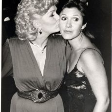 Actress Debbie Reynolds with her daughter Carrie Fisher