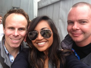 Leo and Johnno with Jessica Mauboy