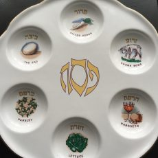 Pesach Seder plate (source: Mark Sobey)