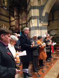 Faith and community leaders at St Paul's Cathedral, Melbourne