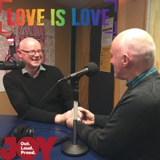 Long time JOY members Tim & Pete propose to each other LIVE on Stand Up Straight & ask you to Vote YES!