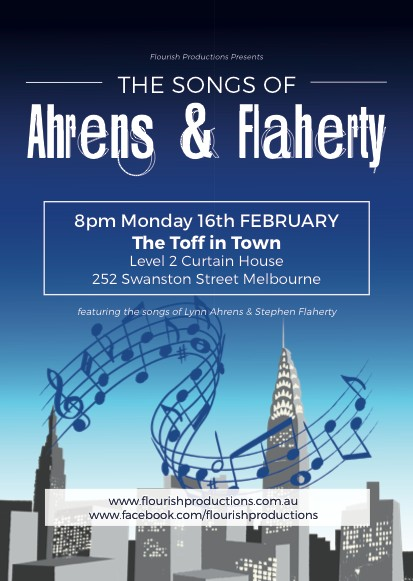 Flourishing Productions with The Songs of Ahrens & Flaherty