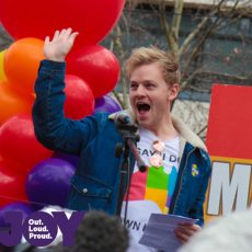 Joel Creasey : Equal Love Rally Melb 26th August 2017