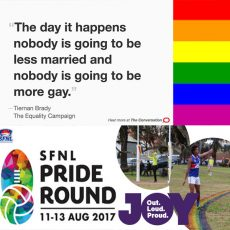 So we can have equality on the sports field, but not in Parliament? : 7th August 2017