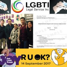 Stop Hate Speech in QLD, Don't make your vote invalid, Asian Australian Alliance says YES and how do you ask R U OK? : 14th September 2017