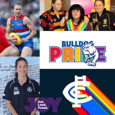 AFLW Pride Match – what it means to the players & supporters : 22nd February 2018