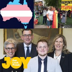 Australia's attitudes toward transgender people, Geelong's First Pride March & Riley Briese Volunteer of the Year : 13th February 2018