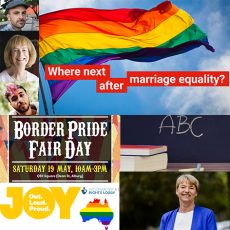 Religious Freedom vs School Discrimination, Border Pride Fair Day & 6 months after Marriage Equality, how do you think we are doing when it comes to LGBTI equal rights? : 15th May 2018