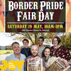 The NSW/VIC border is filled with LGBTI pride for Border Pride Fair Day