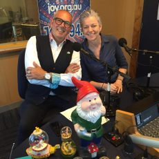 Gillian with guests David Hunt, Gnome and Snowdomes