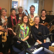 Gillian with Moira Finucane and the Ukulele Ladies