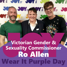 Victorian Gender & Sexuality Commissioner, Ro Allen – Wear It Purple Day