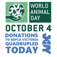 RSPCA Victoria – World Animal Day – DONATE TODAY!