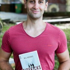 Will Kostakis with his latest book The Sidekicks.