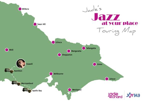 Jazz at your Place Touring Map