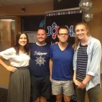 Hilary & Tegan from Monash Student Union with Michael and Glen