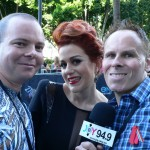 Leo and Johno with Katie Noonan
