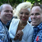 With Connie from Sneaky Sound System