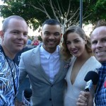 With Guy Sebastian and his wife Jules